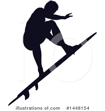 Surfer Clipart #1448154 by AtStockIllustration