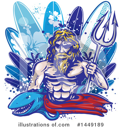 Surfing Clipart #1449189 by Domenico Condello