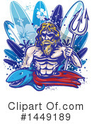 Surfer Clipart #1449189 by Domenico Condello
