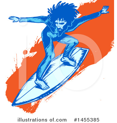 Surfing Clipart #1455385 by Domenico Condello