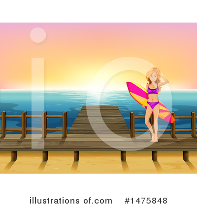 Surfer Clipart #1475848 by Graphics RF