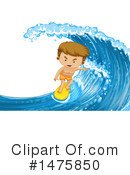 Royalty-Free (RF) Surfer Clipart Illustration #1475850