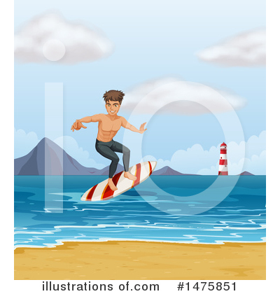 Royalty-Free (RF) Surfer Clipart Illustration by Graphics RF - Stock Sample #1475851