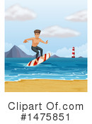 Royalty-Free (RF) Surfer Clipart Illustration #1475851