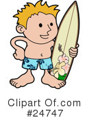 Royalty-Free (RF) Surfer Clipart Illustration #24747
