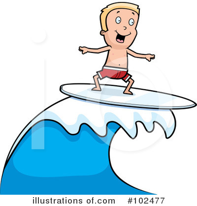 Surfer Clipart #102477 by Cory Thoman