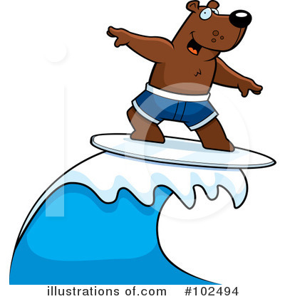 Surfer Clipart #102494 by Cory Thoman