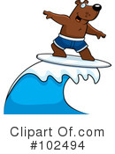 Royalty-Free (RF) Surfing Clipart Illustration #102494