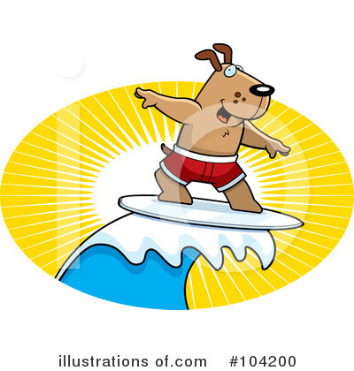 Surfer Clipart #104200 by Cory Thoman