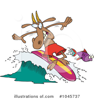 Surfing Clipart #1045737 by toonaday