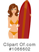 Royalty-Free (RF) Surfing Clipart Illustration #1066602