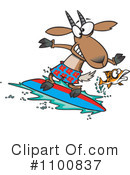 Royalty-Free (RF) Surfing Clipart Illustration #1100837
