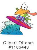 Royalty-Free (RF) Surfing Clipart Illustration #1186443