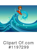 Royalty-Free (RF) Surfing Clipart Illustration #1197299