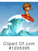 Royalty-Free (RF) Surfing Clipart Illustration #1206395