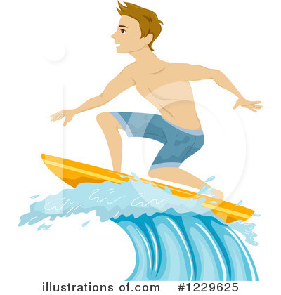 Surfer Clipart #1229625 by BNP Design Studio