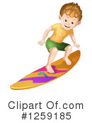 Royalty-Free (RF) Surfing Clipart Illustration #1259185
