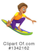 Royalty-Free (RF) Surfing Clipart Illustration #1342162