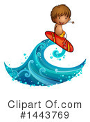 Royalty-Free (RF) Surfing Clipart Illustration #1443769