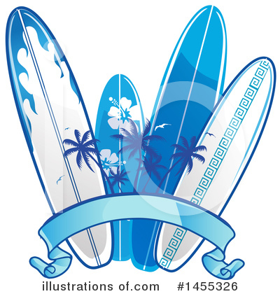Surfing Clipart #1455326 by Domenico Condello