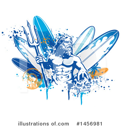 Surfing Clipart #1456981 by Domenico Condello