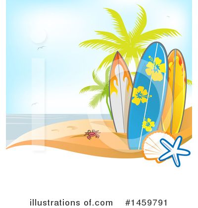 Surfing Clipart #1459791 by Domenico Condello