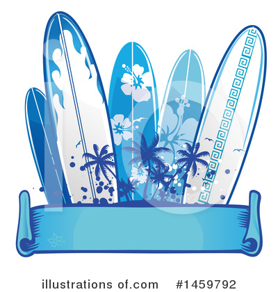 Surfing Clipart #1459792 by Domenico Condello