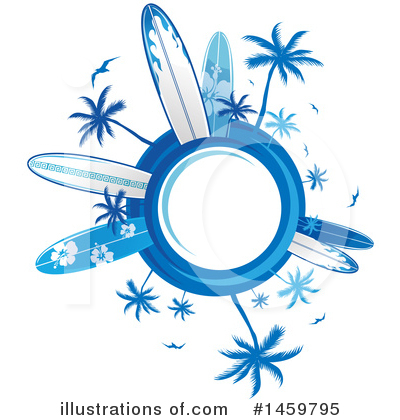 Surfing Clipart #1459795 by Domenico Condello
