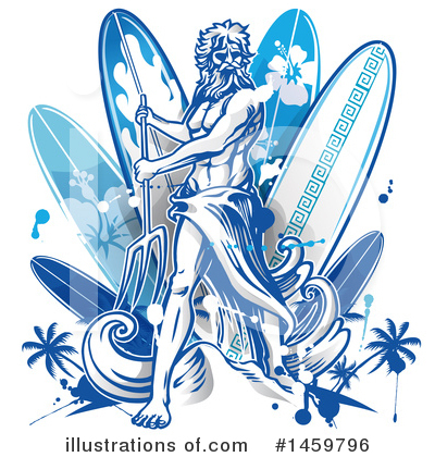 Surfer Clipart #1459796 by Domenico Condello