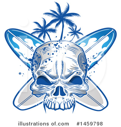 Surfing Clipart #1459798 by Domenico Condello