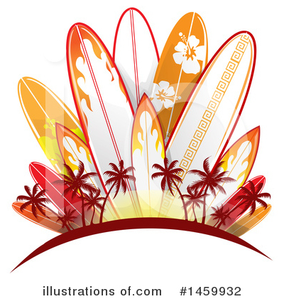 Surfing Clipart #1459932 by Domenico Condello