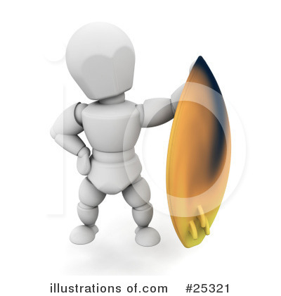 Surfer Clipart #25321 by KJ Pargeter