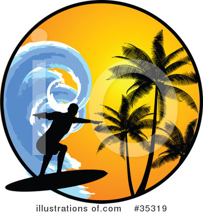 Surfer Clipart #35319 by KJ Pargeter