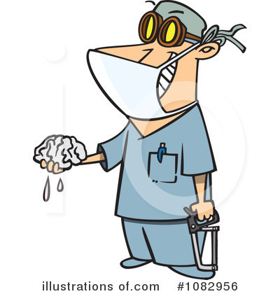 Royalty-Free (RF) Surgeon Clipart Illustration by Ron Leishman - Stock Sample #1082956