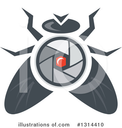 House Fly Clipart #1314410 by patrimonio
