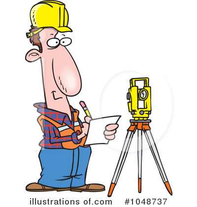 Royalty-Free (RF) Surveyor Clipart Illustration by Ron Leishman - Stock Sample #1048737