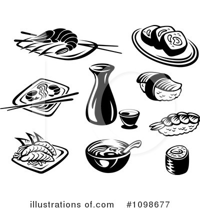 Sushi Clipart #1098677 by Vector Tradition SM