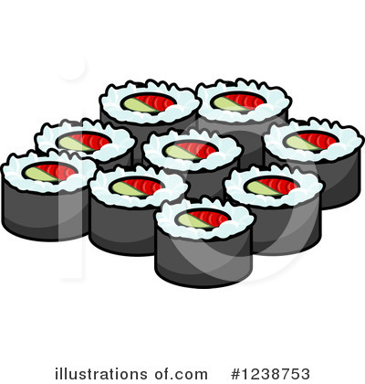 Sushi Clipart #1238753 by Vector Tradition SM