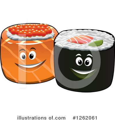 Sushi Clipart #1262061 by Vector Tradition SM