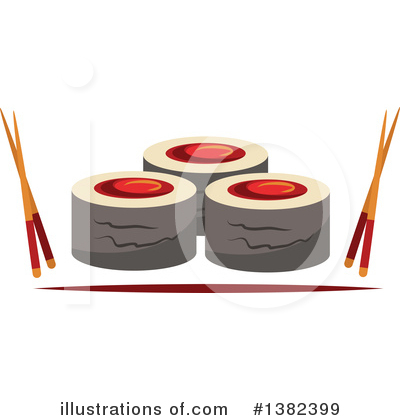Sushi Clipart #1382399 by Vector Tradition SM
