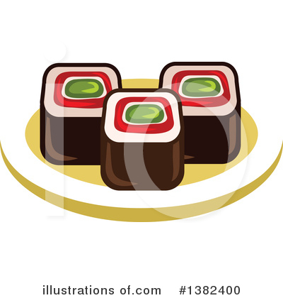 Sushi Clipart #1382400 by Vector Tradition SM