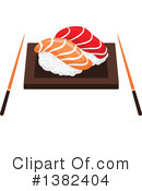 Royalty-Free (RF) Sushi Clipart Illustration #1382404