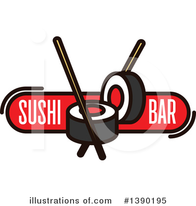 Sushi Clipart #1390195 by Vector Tradition SM
