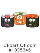 Sushi Clipart #1395346 by Hit Toon