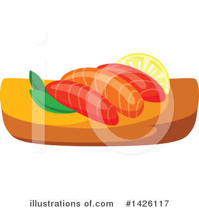 Sushi Clipart #1426117 by Vector Tradition SM