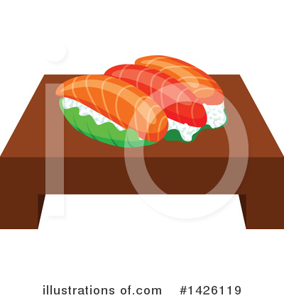 Sushi Clipart #1426119 by Vector Tradition SM