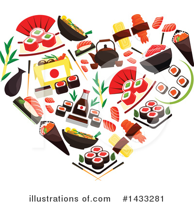 Sushi Clipart #1433281 by Vector Tradition SM