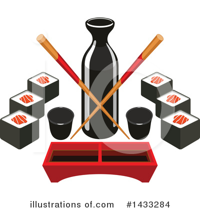 Sushi Clipart #1433284 by Vector Tradition SM