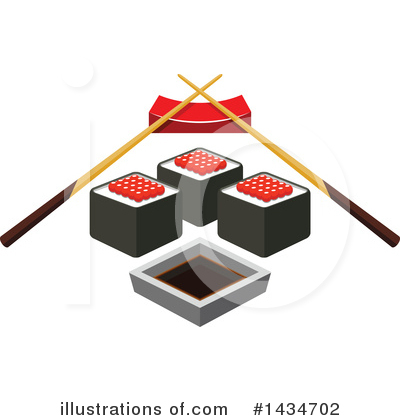 Sushi Clipart #1434702 by Vector Tradition SM