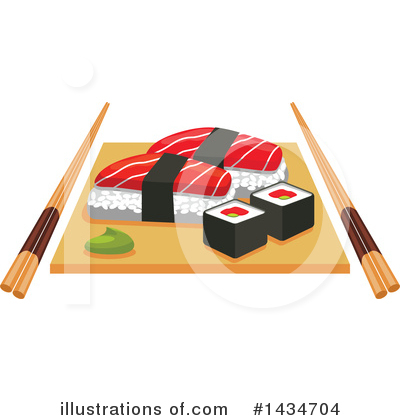 Sushi Clipart #1434704 by Vector Tradition SM